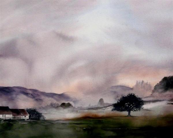 Painting a week  in the Morvan France 26